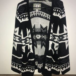 Tribal Pattern Sweater Cardigan